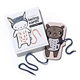 Wee Gallery Baby Animal Lacing Cards for Toddlers, Sewing Board...