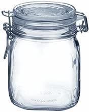 Bormioli Rocco SYNCHKG009319 B0727PL21D Fido Glass Canning Jar Italian.75, Clear