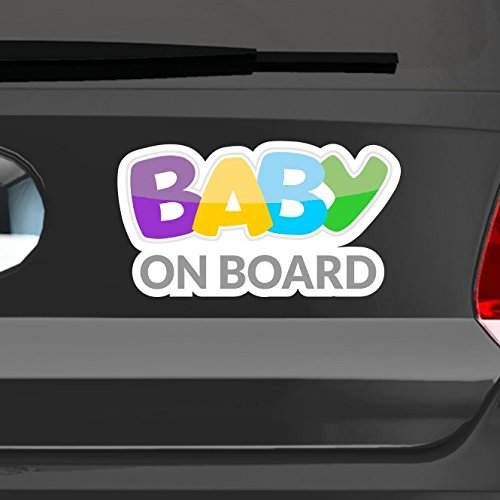 malango® Autoaufkleber Baby On Board Sticker digitaldruck Styling Tuning Aufkleber Auto Kinder fährt mit Bord 18 x 10 cm digitalgedruckt