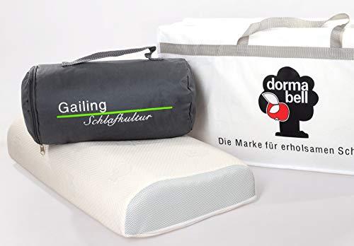 Dormabell Cervical Nackenstützkissen mit gratis Reisetasche und gratis Aufbewahrungstasche (NB4V)