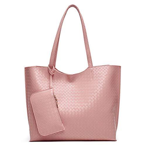 GZMUK Damenhandtaschen Modische Umhängetaschen Arbeitstaschen mit großer Kapazität,Rosa