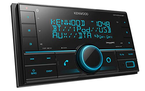 Kenwood DPX304MBT Double DIN in-Dash Digital Media Receiver with Bluetooth (Does not Play CDs) | Mechless Car Stereo Receiver | Amazon Alexa Ready - Black