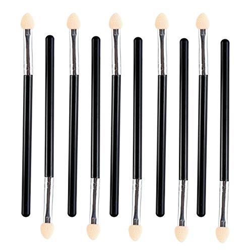 SALOCY Eyeshadow Sponge Applicator Brush Makeup Brushes Eyeshadow Makeup Tool,Dual Color,10Pcs