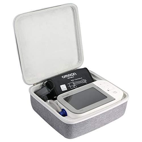 Khanka Tasche Schutzhülle für Omron X7 Smart Oberarm-Blutdruckmessgerät Etui Case. (Tasche für Omron X7, Schwarz)