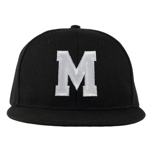 Baseball Cap Alle Buchstaben A-Z Bad Hair Day schwarz with Adjustable Strap Snapback Morefaz (TM) (M)
