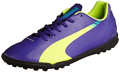 Puma evoSPEED 5.3 TT Herren Fußballschuhe, Violet (Prism Violet-Fluro Yellow-Scuba Blue 01), 42 EU (8 Herren UK)