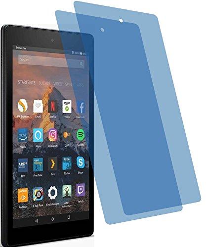 4ProTec I 2X ANTIREFLEX matt Schutzfolie für Amazon Fire HD 8-Tablet 7. Generation 2017 Premium Bildschirmschutzfolie Displayschutzfolie Schutzhülle Bildschirmschutz Bildschirmfolie Folie
