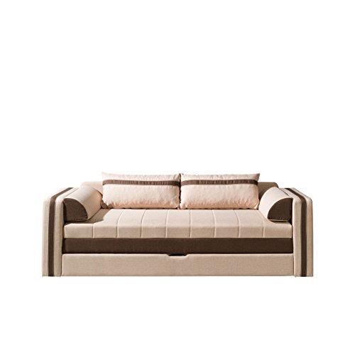 Mirjan24 Schlafsofa Euforia, Couch mit Bettfunktion, Polstersofa mit Bettkasten und Schlaffunktion, Bettsofa, (Lux 24 + Lux 12)