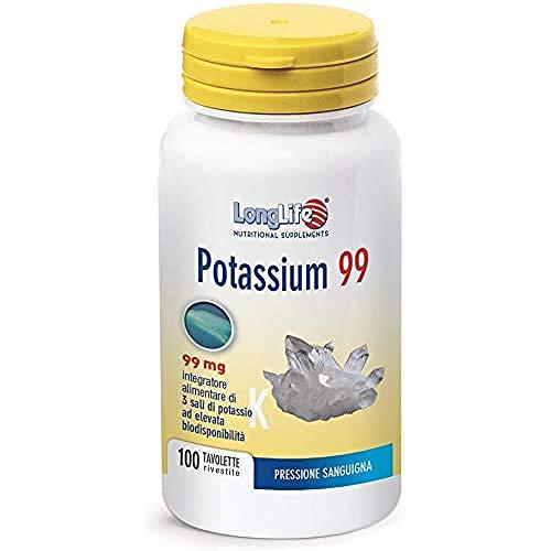 Potassium 99 LongLife   Integratore 3 Sali di Potassio   Pressione del sangue, funzione muscolare e neurologica   Doping Free, Gluten Free & Vegan