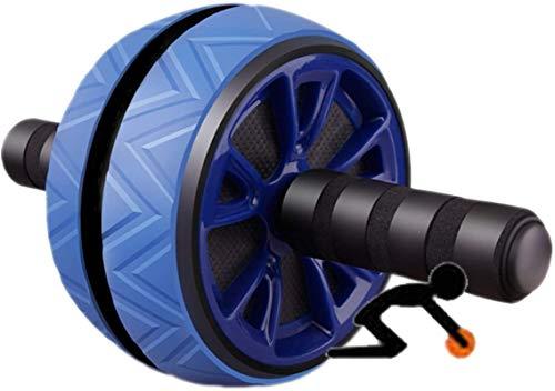Rueda Abdominales Rueda De Ejercicio Abdominal para Equipos De Entrenamiento De Fuerza Muscular Azul mwsoz (Color : Blue)
