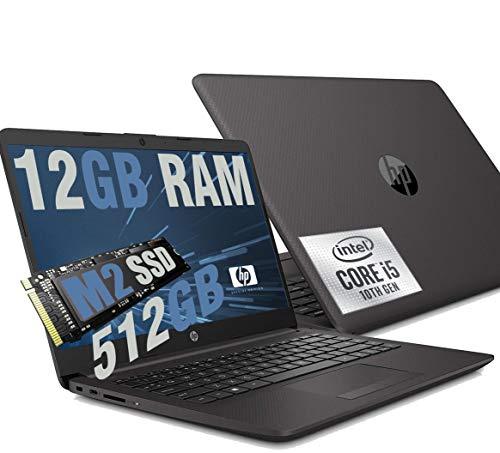 """HP Ordenador portátil 240 G8 Intel i5 1035g1 10th gen hasta 3,60 Ghz Pantalla 14"""" Full HD, 12 GB RAM ddr4, SD M2 NVMe 512 GB, HDMI, WiFi, LAN, Bluetooth, Webcam, Windows 10 Professional"""