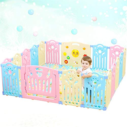 Lowest Price! Tuuertge Foldable Baby Playpen Playpen for Baby Toddlers Baby Fence Baby Learning to W...