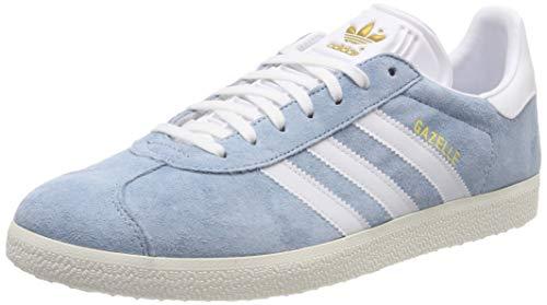 adidas Gazelle W, Zapatillas de Gimnasia Mujer, Gris (Ash Grey S18/Ftwr White/Chalk White Ash Grey S18/Ftwr White/Chalk White), 36 EU