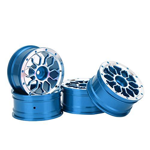 GXX 4 Stücke 1.9inch Aluminiumlegierung Metall Radnaben Für 1:10 Fernbedienung RC Klettern/Driften Auto Blau