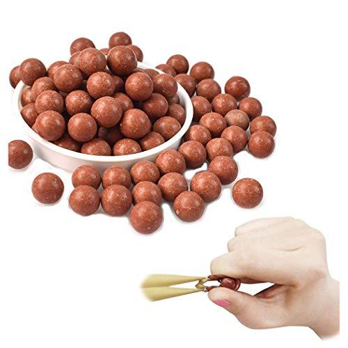 GEGEQUNAERYA Schleuder Munition Zwille Steinschleuder Slingshot 10mm recycelbarer Schleuderball aus hartem Ton zum Schießen von Übungen, EIN schönes Geschenk für Slingshotsfans (S-800PCS)