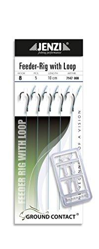 Jenzi 5 Stück Method Feeder - Vorfächer/Rig Hakengröße 8