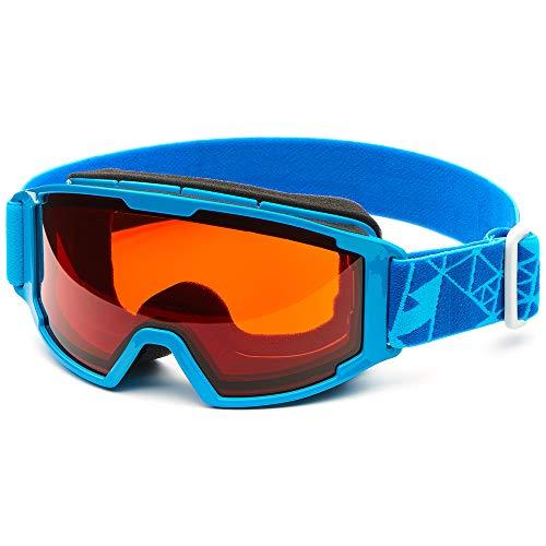 Briko Saetta Skibrille, Unisex, Erwachsene Einheitsgröße Glänzend, Himmelblau
