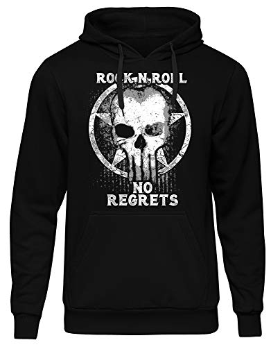 Rock'n' Roll Männer Herren Kapuzenpullover | Rockabilly Rock Musik Heavy Metal Death Hardrock | M3 (XL)