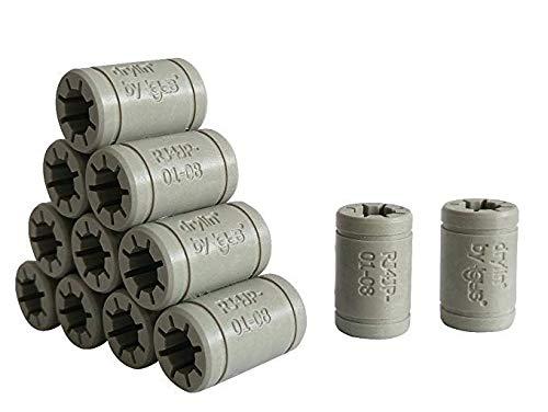 Igus - Set de cojinetes de deslizamiento para reemplazar los LM8UU de una impresora 3D RepRap, Mendel, Anet A6y A8 oPrusa i3, Anet A8 A6 LM8UU Ersatz, 12 conectores RJ4JP-01-08 (Igus DryLin)., 1