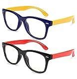 MOSSLIAN Gafas de Luz Anti-azul para Niños, Proteja Los Ojos de Los y Bloquee la Dañina Luz Azul Emitida por Luces Fluorescentes, LED, Televisores LCD, Pantallas Electrónicas y Proyectores,Edad 3-12