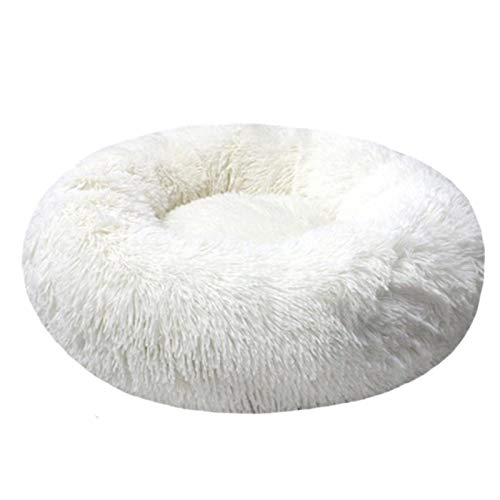 Round dog bed plush pet bed small medium-sized large pet puppy mat kennel cat basket