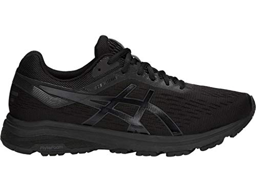ASICS Men's GT-1000 7 Running Shoes, 8M, Black/Phantom