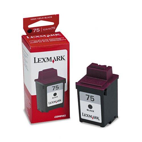 Lexmark 12A1975 cartucho de tinta Original Negro - Cartucho de tinta para impresoras (Original, Tinta a base de pigmentos, Negro, - 3200; - 5000; - 5700; - 7000; - 7200; - OC40; - OC45; - X63; - X73; - X83; - X85; - X125; -..., Impresión por inyección de tinta)