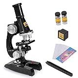 顕微鏡 おもちゃ 100X、200X、450Xの拡大倍率 単眼 小学生 子供用 キッズ こども 理科実験キット