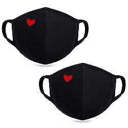 top 10 cute surgical mask Fashion Cute Heart Face Guard-Unisex Cotton Dustproof Mouthguard-Reusable Warm …