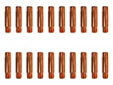 ELCAN 20 Puntas de contacto de cobre M6x25x5.8mm para antorcha 15ak de 0.6/0.8/1.0. Consumibles y accesorios pistola soldar. Boquillas para torcha soldadura hilo mig mag de 0,6mm