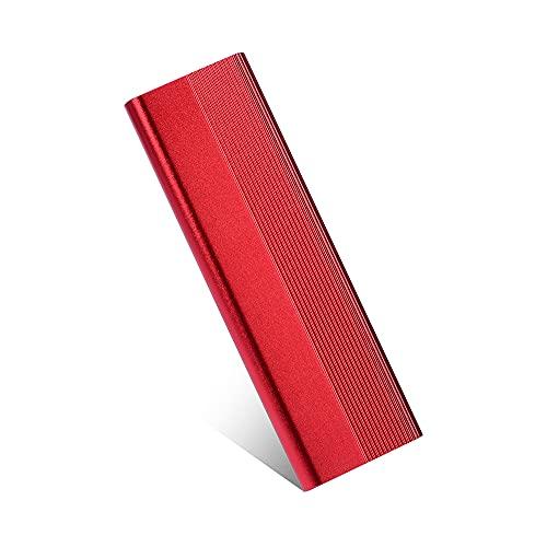 Disque Dur Externe 1to 2to USB 3.1 pour PC, Mac, Ordinateur de Bureaup,Ordinateur Portable,Chromebook, Xbox 360… (Red-1TB)