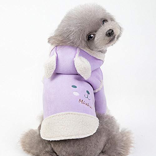 wksee-Pet clothing Sweater Für Hunde Hundemantel Haustier Hund Warm Mantel Jacke Hundemantel Warm Winterjacke Lammfellmantel Mit Kapuze