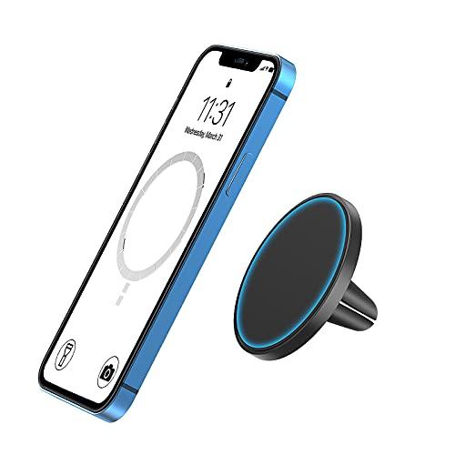 TechMatte MagGrip Soporte de Ventilación de Aire para Automóvil, Diseñado para iPhone 13/12 Series MagSafe, Soporte Coche Magnético, Compatible con iPhone 13/12, Pro, Pro MAX, Mini
