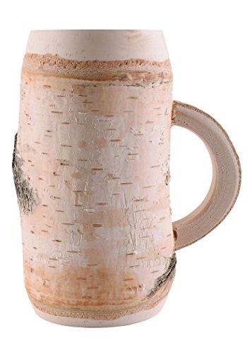 Battle-Merchant Krug mit Henkel aus Birkenholz 0,5 Liter Bierkrug LARP Holzkrug Becher Stammtischkrug Wikingerhumpen