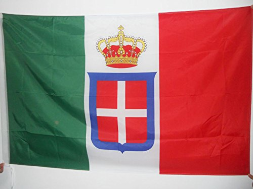 AZ FLAG Flagge KÖNIGREICH Italien MIT KRÖNT 150x90cm - ITALIENISCHE ALT Fahne 90 x 150 cm Scheide für Mast - flaggen Top Qualität