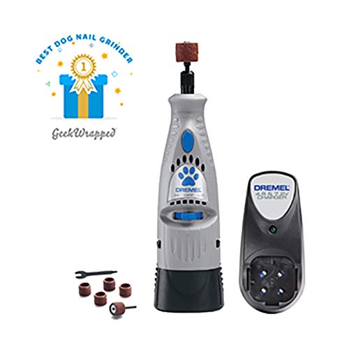 Dremel 7300-PT 4.8V Cordless Pet Dog Nail Grooming & Grinding Tool, Safely & Humanely Trim Pet & Dog Nails,Grey