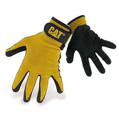 Caterpillar 17416 Herren Nylon-Handschuhe mit Nitrilbeschichtung (Medium) (Schwarz)