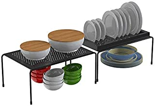 APPUCOCO Multipurpose Expandable Utensils Cookware Plate Dish Kitchen and Food Rack Storage Holder Stand Shelves Shelf Cou...