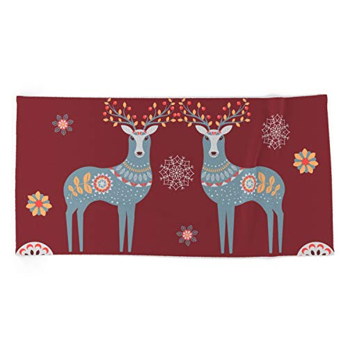 Society6 Nordic Winter Red by Lavieclaire on Oversized Beach Towel - Beach Towel