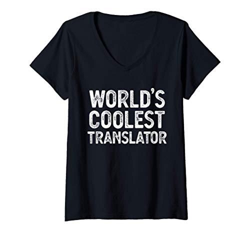 Mujer Regalo de traductor El mejor traductor del mundo Camiseta Cuello V