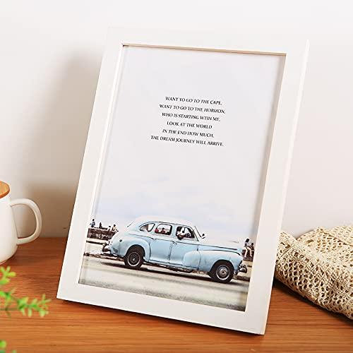 LZYMLG Ramka na zdjęcia plakatowe 29,7 x 42 cm biała drewniana ramka na zdjęcia A3 z wysokiej rozdzielczości akrylowymi tworzywami sztucznymi do powieszenia na ścianie i dekoracji ściany