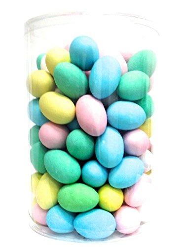 UOVA in CIALDA CONFETTATE 100 pezzi - Espositore di Uova in cialda colorate e confettate con piccolo zuccherino come sorpresa - Misure uovo: altezza 5,5 cm / larghezza 3,5 cm