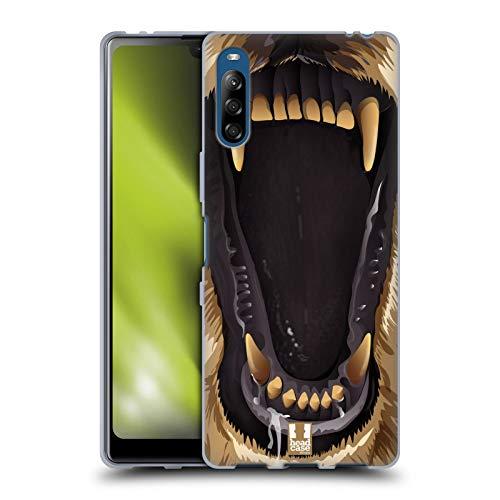 Head Case Designs El Oso Pardo Diente de Navaja de Afeitar Carcasa de Gel de Silicona Compatible con Sony Xperia L4