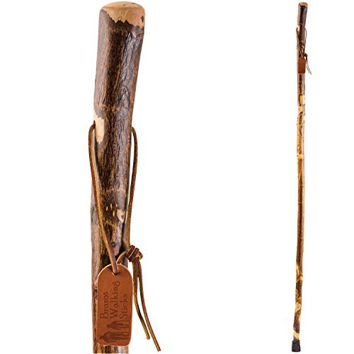 Brazos Trekking Pole Hiking Stick for Men and Women Handcrafted of Lightweight Wood and made in the USA, Hawthorn, 58 Inches