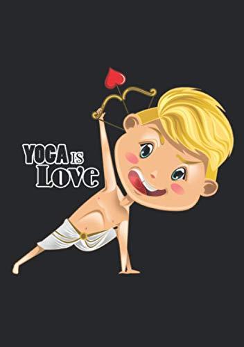 Notizbuch A5 liniert mit Softcover Design: Yoga Engel Liebesengel - Yoga ist Liebe: 120 linierte DIN A5 Seiten