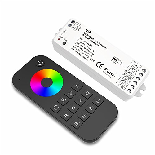 4 Channel LED RF Controller RGBW/RGB/CCT/Dimming Multfunction Controller 12-24VDC