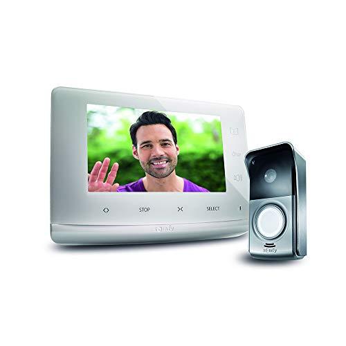 Somfy 2401547 - Videotürsprechanlage V300, Videosprechanlage 7 Zoll Bildschirm | Nachtsicht | Steuert bis zu 5 RTS-Geräte | Aufrüstbar für 2 Wohnungen