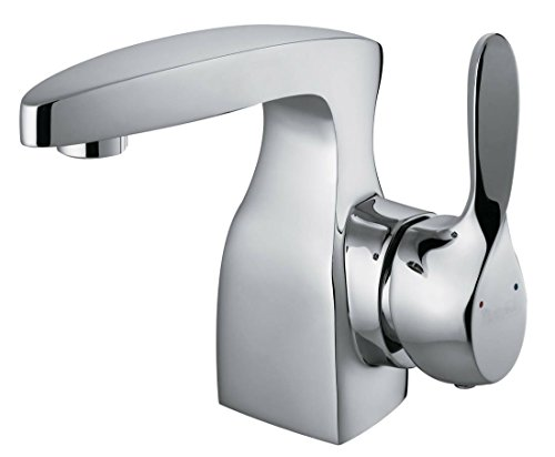 Modern Design Single Lever 1/4 Turn Chrome Bathroom Basin Mixer Tap (Spree 1) by Grand Taps