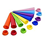 Set of 8 MultiColored Silicone Ice Pop Maker Set, Ice Pop Moulds Ice Lolly Moulds Ice Lolly Moulds Ice Lolly Makers Mould Best Ice Cream