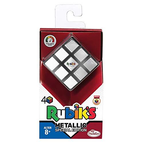 ThinkFun - 76430 - Rubiks Cube Metallic - Der Klassiker, der original Rubik's Zauberwürfel mit Metallic-Effekt, Sammlerobjekt für jeden Rubiks-Fan ab 8 Jahren